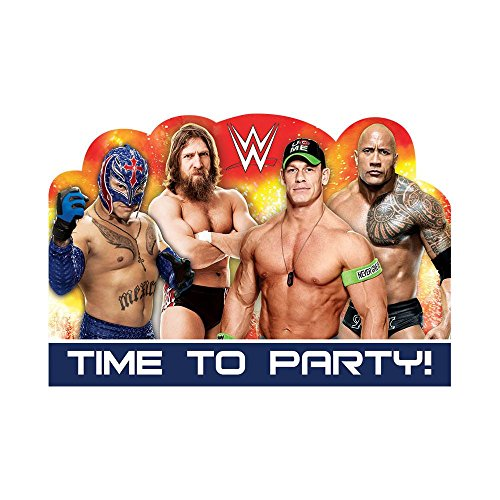 WWE Birthday Party Invitations (Pack of 8)
