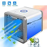 Portable Air Conditioner/Air Conditioning, Portable Air Cooler, Portable Humidifier, USB Fan (Travel, Easy to Use, Refreshing, Evaporative, Multi Color Lights)