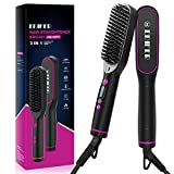 Hair Straightener Brush, Hair Straightening Comb with 30s Fast Heating & 5 Temperature Settings & Anti-Scald, Perfect for Professional Salon at Home