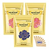 10.5Oz Hard Wax Beans for Painless Hair Removal Waxing Kit, At Home Wax Beads for Eyebrow, Facial, Legs, Arms,...