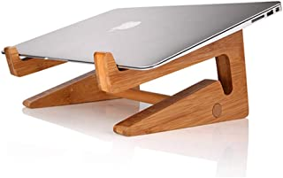 Wood Laptop Stand For Desk Ergonomics, Notebook Riser For All Laptop Brands Up To 15inch