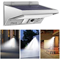 iThird LED Solar Powered Security Lights Stainless Steel