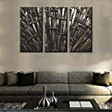 TUMOVO The Iron Throne Pictures Game of Thrones Paintings 3 Panel Canvas Medieval Wall Art Metal Knight Swords Artwork Home Decor for Living Room Framed Stretched Ready to Hang(28''x42'')