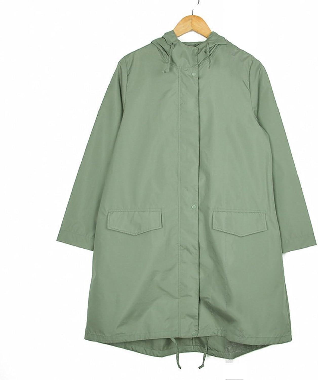 ZEMIN Rain Jacket Coat Raincoat Poncho Windbreaker Waterproof Cover Portable Female Polyester, bluee, 2 Sizes Available Waterproof (Size   M)