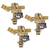 Twinkle Star 1/2 Inch Brass Impact Sprinkler, Heavy Duty Sprinkler Head with...