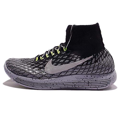 Nike Womens Lunarepic Flyknit Fabric Low Top Pull On Running, Grey, Size 9.0