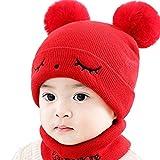 LORYLOLY Gorro y Bufanda de Invierno para bebés, Conjunto de Bufandas de Invierno para niños pequeños, para niños, bebés, bebés y bebés de 0 a 36 Meses, 5 Colores