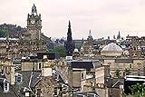 Edimburgo Vista lejana Montañas Castillo de Edimburgo DIY 5D Pintura de diamante por número Kits únicos Decoración de la pared del hogar Cristal Rhinestone Decoración de la pared Punto de cruz
