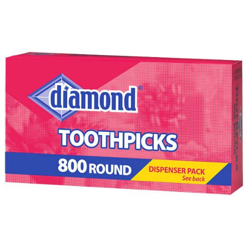 Diamond Round Toothpicks 800 Count