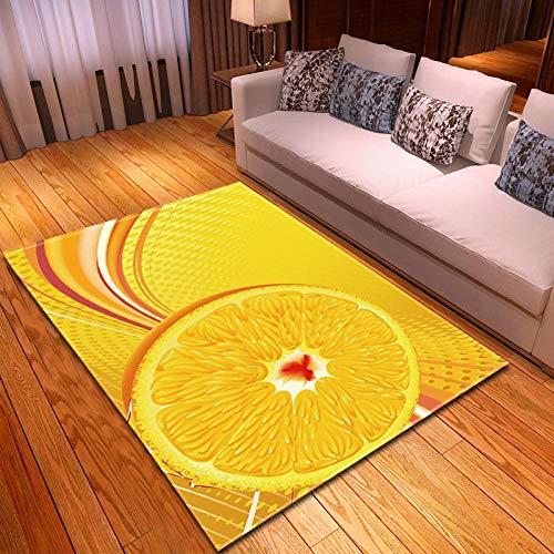 RGBVVM Alfombra Salón Naranjas Amarillas 200 x 300 cm Alfombra Salon Grandes Shaggy - Alfombras Dormitorio Modernas Lavables Fácil de Limpiar, Superficie Suave, Pelo Corto