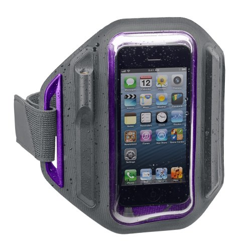 X-1 (Powered by H2O Audio) MM-AB1 Women's Momentum Weatherproof Armband for iPhone 4/5 (Purple)
