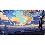 Extended Gaming Mouse Pad Custom Design Computer Gaming Mouse Mat with Smooth Surface XXL Large Size Desk Pad with Non-Slip Rubber Base Ideal for Keyboard, PC and Laptop (90x40 cloudY3)