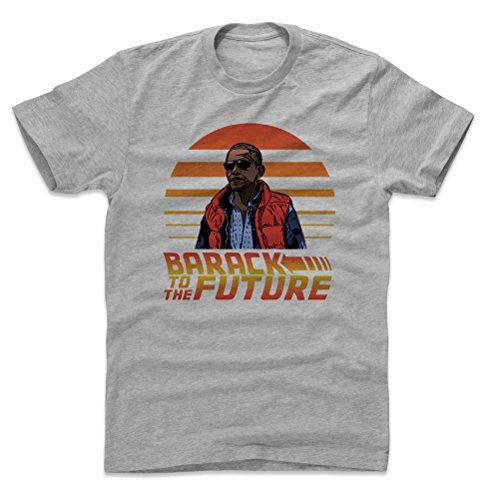 Bald Eagle Shirts Barack Obama Cotton Shirt - Barack to The Future (Heather Gray, X-Large)