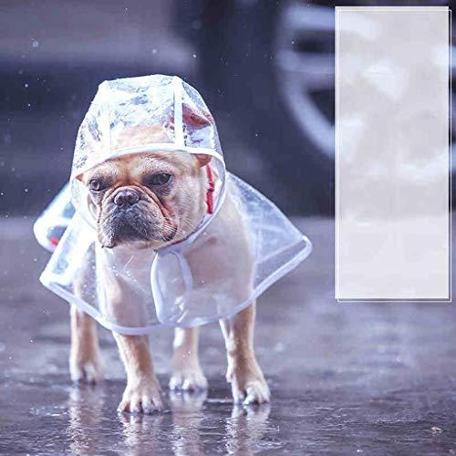 LUGEUK Haustiere Welpen Hund Regenmäntel Ponchos Kleine Hunde Regenschirme (Color : White, Size : M)