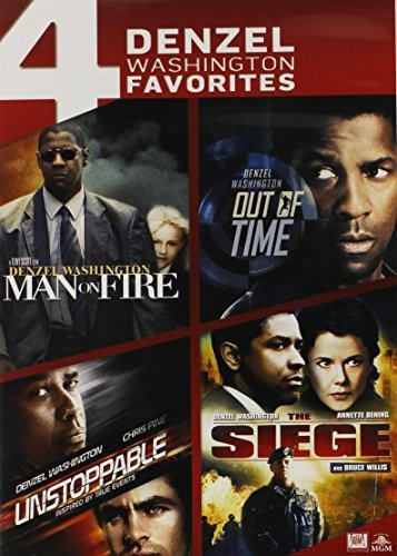 4 Denzel Washington Favorites: Man on Fire / Out of Time / Unstoppable / The Seige