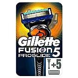 Gillette Fusion5 ProGlide 1 Rasoio da Uomo + 5 Lamette, Pacchetto per Casella Postale, con Tecnologia FlexBall