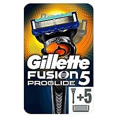 Idea Regalo - Gillette Fusion5 ProGlide 1 Rasoio da Uomo + 5 Lamette, Pacchetto per Casella Postale, con Tecnologia FlexBall