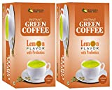 Pranacharya Instant Green Coffee Sachets for Weight Loss | Lemon Flavor with Probiotics