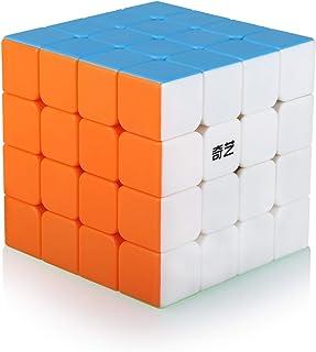 Speed Cube 4x4 4x4x4 Stickerless Magic Puzzle Cube de Vitesse Magique Cadeau de Vacances pour Enfants Adultes (sans Autoco...