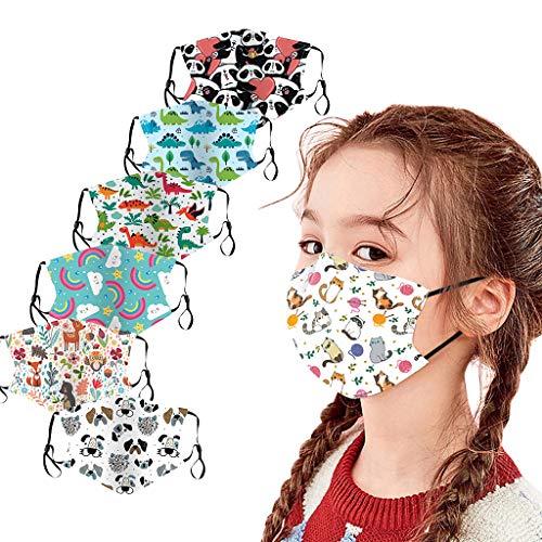 Humeng 6PC Kinder Kinder Outdoor Baumwolle Mund Staubdichtes Gesicht Wiederverwendbar Made in Germany