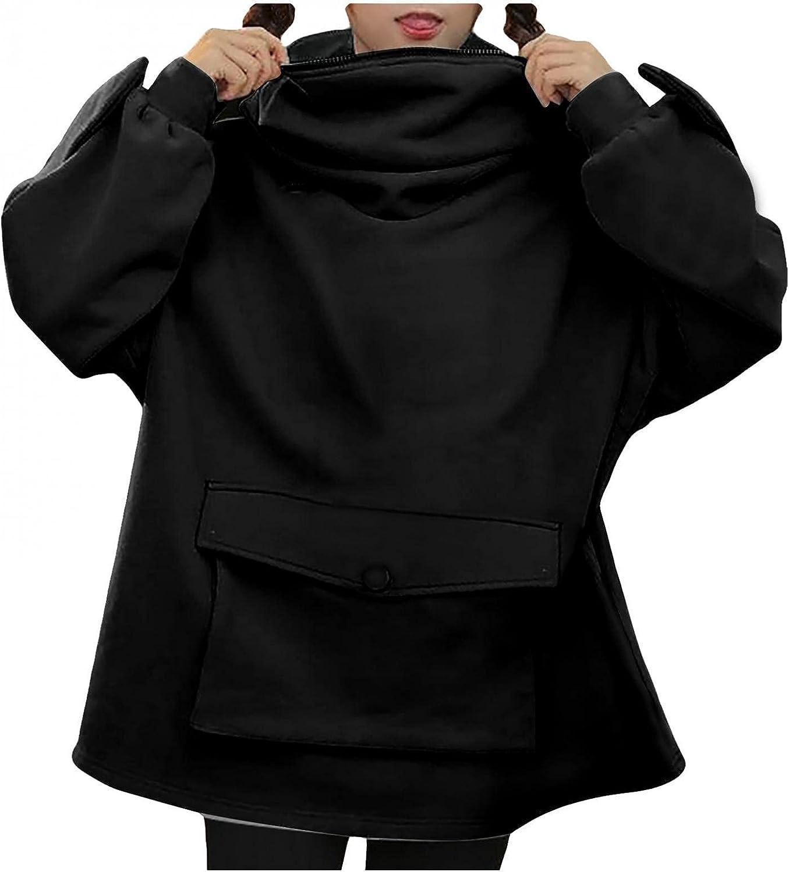Sweatshirts for Teen Girls Trendy, Casual Loose Fit Hoodies Long Sleeve Splice Blouses Frog Tops