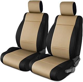Coverking Custom Fit Seat Cover for Jeep Wrangler JK 2-Door - (Neoprene, Black/Tan)