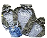 Mommy And Me Outfits Matching Mommy Daughter Mama Sweatshirt Matching Mom and Son Camo Hoodies Mama and Me Outfits Sweatshirts Pullover Sets Sweatshirt (T3B)