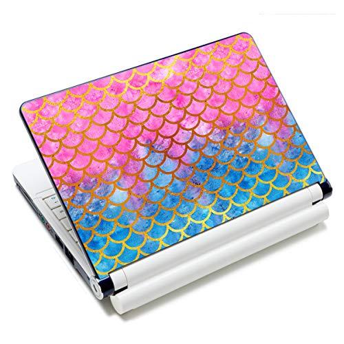 Laptop-Aufkleber, 12 13 14 15 15,6 Zoll Netbook Laptop Skin Aufkleber Wiederverwendbare Schutzabdeckung für Toshiba Hp Samsung Dell Apple Acer Leonovo Sony Asus Laptop Notebook Meerjungfrauenwaage