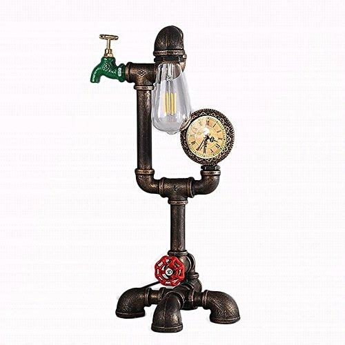 Rishx Retro Tischlampe Roboter Eisen Wasserpfeifen Tisch Schreibtischlampe Vintage Bauernhaus Industrial Home Decor Schreibtisch Laterne E27 Vintage Schlafzimmer Nachtlaterne