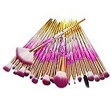 Xshuai Make-up Pinsel Set 20 STÜCKE Make-Up Foundation Augenbraue Eyeliner Erröten Kosmetische Concealer