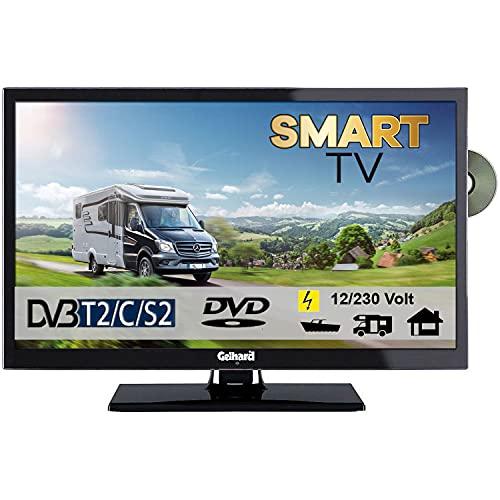 Gelhard GTV2452 Smart TV 24 Zoll DVB/S/S2/T2/C, DVD, USB, 12V 230 Volt WLAN, 12 Volt, Internet