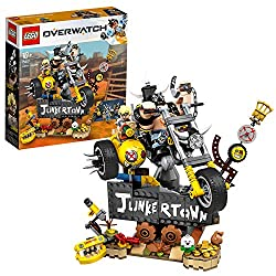 This action toy features a display diorama with the Junkertown sign and a yellow chopper bike that can be played with separately Kids and fans will love building this highly detailed Overwatch model, including the brick-built Pachimari figure It come...