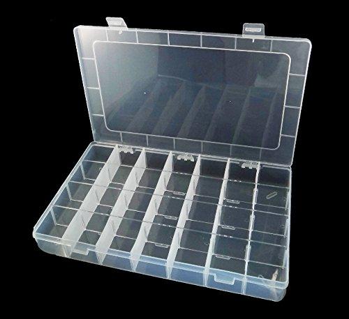 Perlenbox 5XL großer Sortierbox 28 Fächer Bastelzubehör Sortierkasten Dosen B31