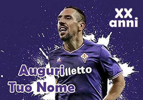 Partycolare Cialda Personalizzabile 21x29,7 Frank Ribéry Fiorentina - da Personalizzare con Nome - fiorentina001