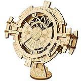 Calendario perpetuo de Madera 3D Rompecabezas Engranajes mecánicos Juego de construcción de Juguetes Juegos de ingenio Juguetes de ingeniería, 5.5X3.5X6.9 Pulgadas