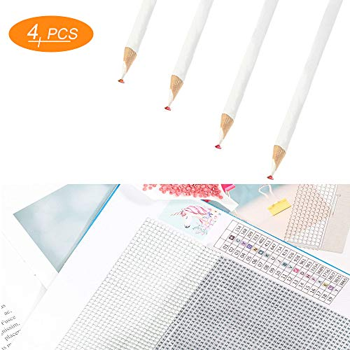 4 Pcs Diamond Painting Tools Self-Stick Drill Pen, Must Have for 5D DIY Painting with Diamonds Accessories Kits for Adults