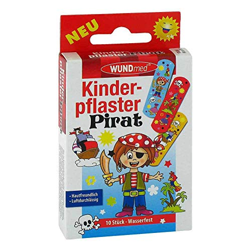 KINDERPFLASTER Pirat 10 St
