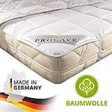 PROCAVE weiches Unterbett aus 100% Baumwolle, atmungsaktiver Matratzen-Schoner, hochwertige Matratzentopper, Matratzen-Auflage 180x200 cm