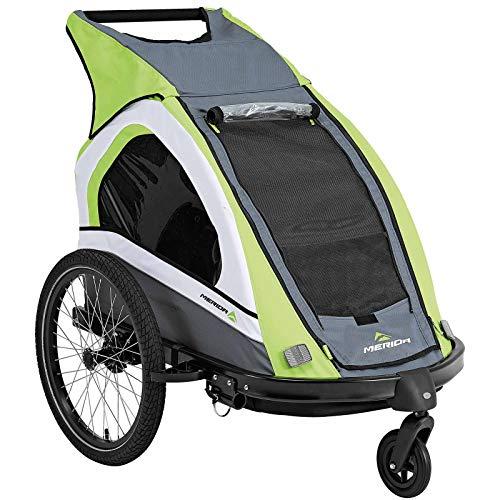 Merida Duo Kinderfahrradanhänger für 1-2 Kinder, Buggy-Set und Jogger-Set - grün