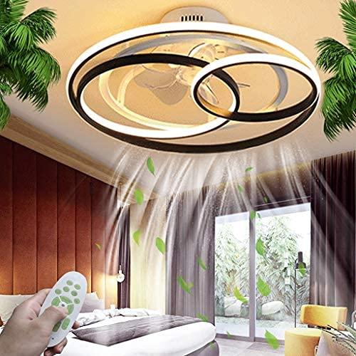 Ventilador De Techo Con Lámpara De Techo Led De Iluminación Dimmable Control Remoto Creativo Silencioso Dormitorio Dormitorio Techo Lámpara De Techo Moderno Ventilador Invisible Luz Sala De Comedor
