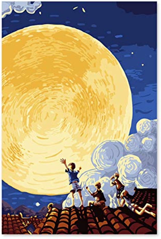 Superlucky Digitale Malerei Handbuch Färbung Dekoration Mitte Herbst Festival Mond zeichnen Sie ihre Farbe 40x60cm mit Rahmen B07K4BQJFX   Deutsche Outlets