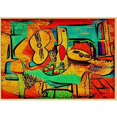 N/P Cartel De Lienzo Picasso Cuadro Abstracto Cartel Vintage Papel De Lienzo...