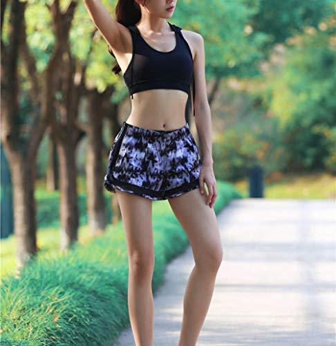 UNKNO Pantalones Cortos De Fitness Laufshorts Al Aire Libre Yoga Gym Entrenamientos Pantalones Cortos Deportivos Shorts 2 En 1-Hua_Metro