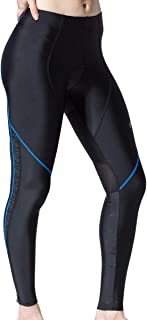 Souke Sports Women's Cycling Pants 3D Padded Bike Long Tights for Fall Spring