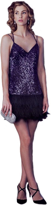 Ark & Co Women's Chloe Sequinned Feather Dress