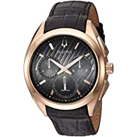 Bulova Curv Chronograph Mens Leather Watch (97A124) - Refurbished