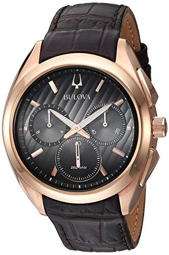 Bulova Reloj Cronógrafo para Hombre de Cuarzo con Correa en Cuero 97A124