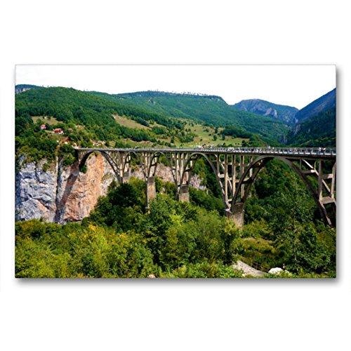 Calvendo Un Puente de Arco sobrepasa la Trampa de la Tara, 90x60 cm