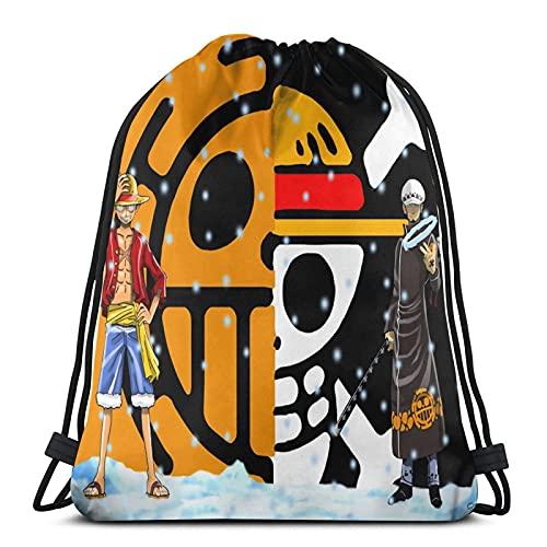 Mochila de una sola pieza de anime unisex de fútbol, natación, deportes, gimnasio, zapatos de viaje, con cordón, plegable, para mochila escolar, para niños, niñas, hombres y mujeres