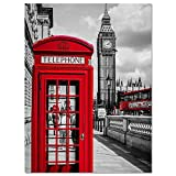 fdgdfgd Cartel clásico Creativo Carteles e Impresiones nórdicos Sala de Estar murales de Pintura Pintura Decorativa lienzos Ciudad Londres París Paisaje 80X100CM